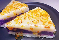 勺子压一压就做好的山药紫薯糕的做法