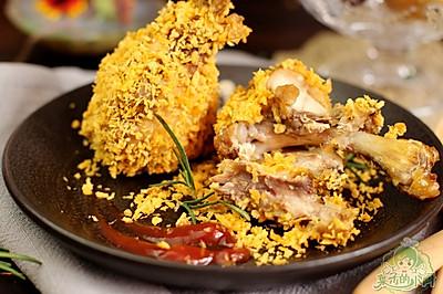 不用油炸的肯德基鸡翅根(半月轩)#长帝烘焙节#