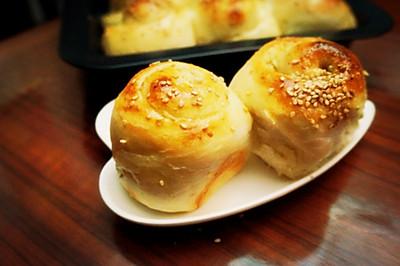 栗蓉面包卷