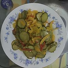 彩椒炒黄瓜