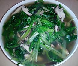 浓汤宝香菇小白菜汤的做法