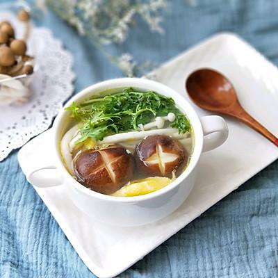 杂菌鸡蛋汤(提高免疫力的减脂好汤)