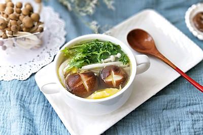 雜菌雞蛋湯(提高免疫力的減脂好湯)