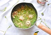 时蔬牛肉豆腐丸子汤的做法