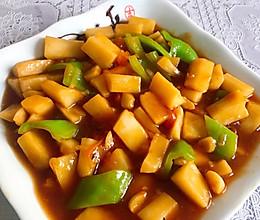 西红柿炒白山药的做法