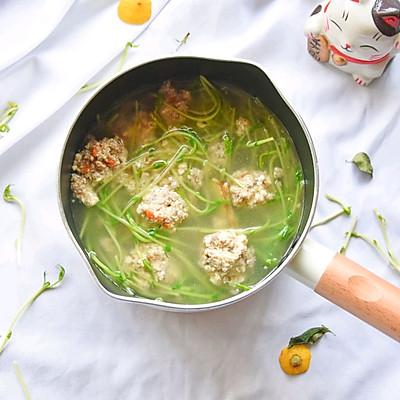 时蔬牛肉豆腐丸子汤