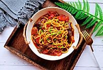 #我要上首焦#好吃到连汤汁都不剩的肉沫茄子焖面的做法