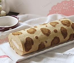 豹纹蛋糕卷#美的烤箱菜谱#的做法