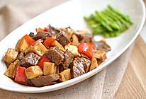 杏鲍菇黑椒牛肉粒的做法
