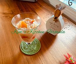 椰奶木瓜雪梨银耳羹,做甜品加糖的时机你知道吗的做法