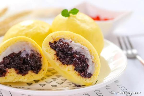 芋泥紫米包 宝宝辅食食谱