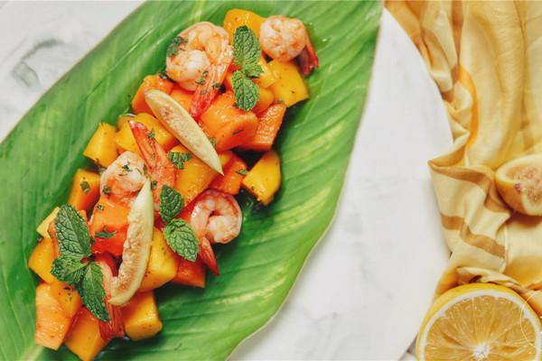 泰式鲜虾芒果沙拉的做法