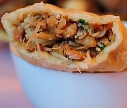 雁荡山著名小吃---麦油煎(卷筒煎饼)的做法的做法