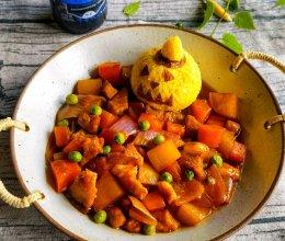 #安佳万圣烘焙奇妙夜#南瓜饭的做法