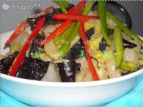 素炒黑木耳大白菜的做法
