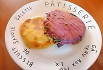 紫薯全麦全素馅饼的做法