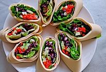 低脂健康豆皮蔬菜卷的做法