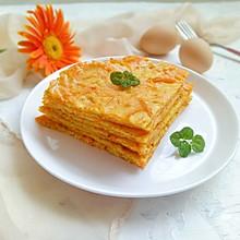 南瓜鸡蛋饼#花10分钟,做一道菜!#
