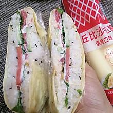 #丘比三明治#蛋包米饭三明治