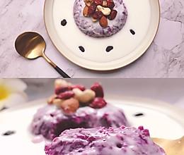 #换着花样吃早餐#减脂早餐——紫薯酸奶蛋糕的做法