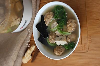 灵芝丸子汤