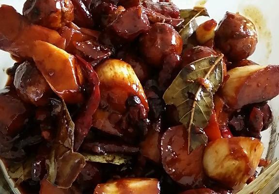 红烧肉茭白的做法