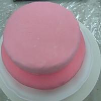 HOLLETKITY粉色双层翻糖蛋糕#九阳烘焙剧场#的做法图解38