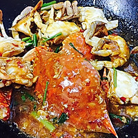 香辣酱炒螃蟹(超详细步骤)的做法图解16
