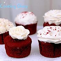 乳酪红丝绒纸杯蛋糕-教你轻松自制sour cream的做法图解17