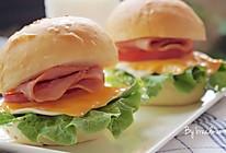 培根芝士汉堡包——校园门口的超级美食/快手早餐#青春食堂#的做法