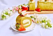 草莓抹茶卷#优思明3.14,狗年第一波撒狗粮攻略#的做法