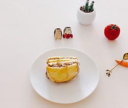 网红芋泥肉松三明治的做法