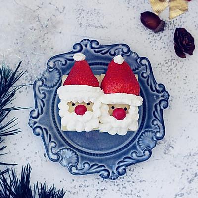 圣诞老人草莓蛋糕卷