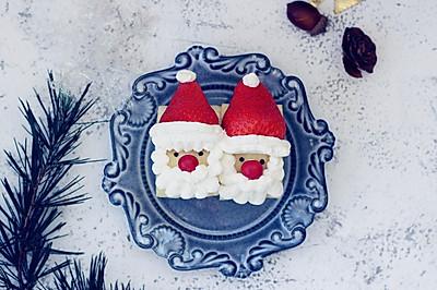 圣诞老人草莓蛋糕卷#美的FUN烤箱.焙有FUN儿#