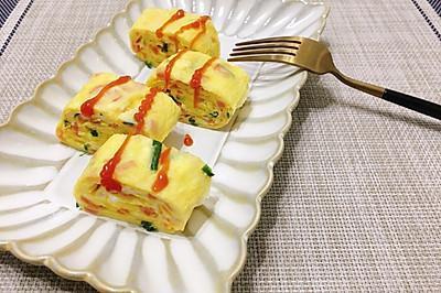 美味营养卷一卷----口感嫩滑的日式厚蛋烧