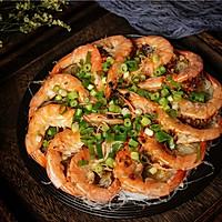 蒜末粉丝蒸虾的做法图解13