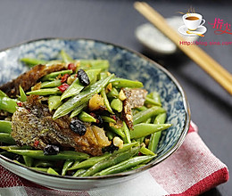 豆豉鲮鱼刀豆丝的做法