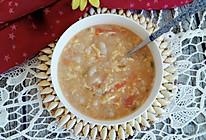 番茄鸡蛋疙瘩汤#花家味道#的做法