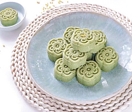 #少盐饮食 轻松生活#香甜细腻-抹茶绿豆糕的做法