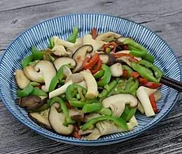 青红辣椒炒香菇的做法
