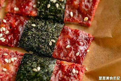 海苔芝麻猪肉脯|脆韧交织