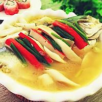 土法白烧鲳鱼#浪漫樱花季#的做法图解6