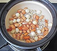 花生薏米芋圆汤的做法图解2