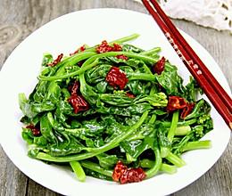 清炒油菜苔的做法