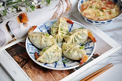 虾仁韭菜鸡蛋煎饺