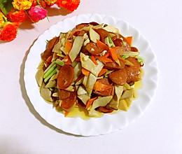 杏鲍菇炒火腿肠的做法
