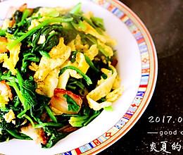 菠菜炖鸡蛋腊肉#月子餐吃出第二春#的做法