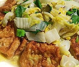 #餐桌上的春日限定#自制鱼豆腐烧白菜(附鱼豆腐制作)的做法