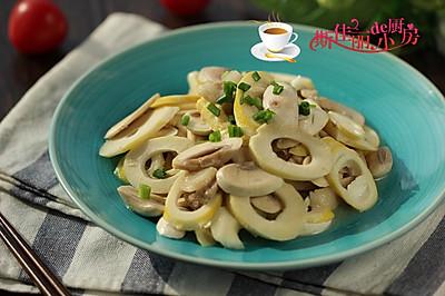 鲜笋口蘑炒肉片
