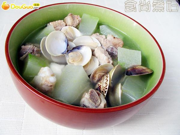 排骨蛤蛎冬瓜汤的做法